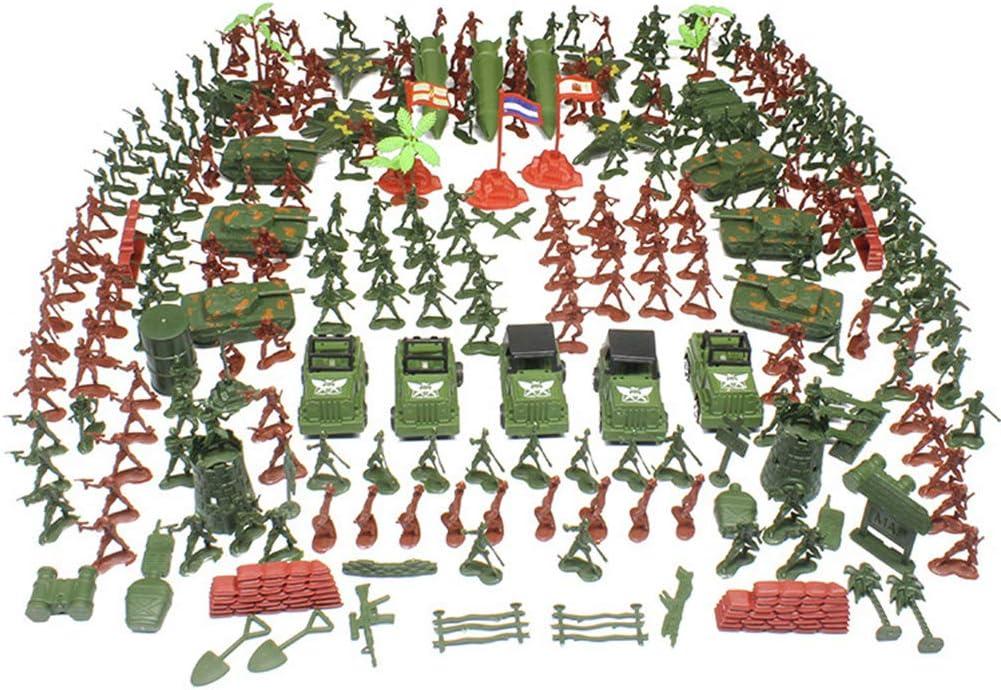TOYANDONA 307 unids Militar Soldados De Plástico Modelo Toy Army Men Figuras Accesorios Kit Ejército Juguetes para Niños Niños