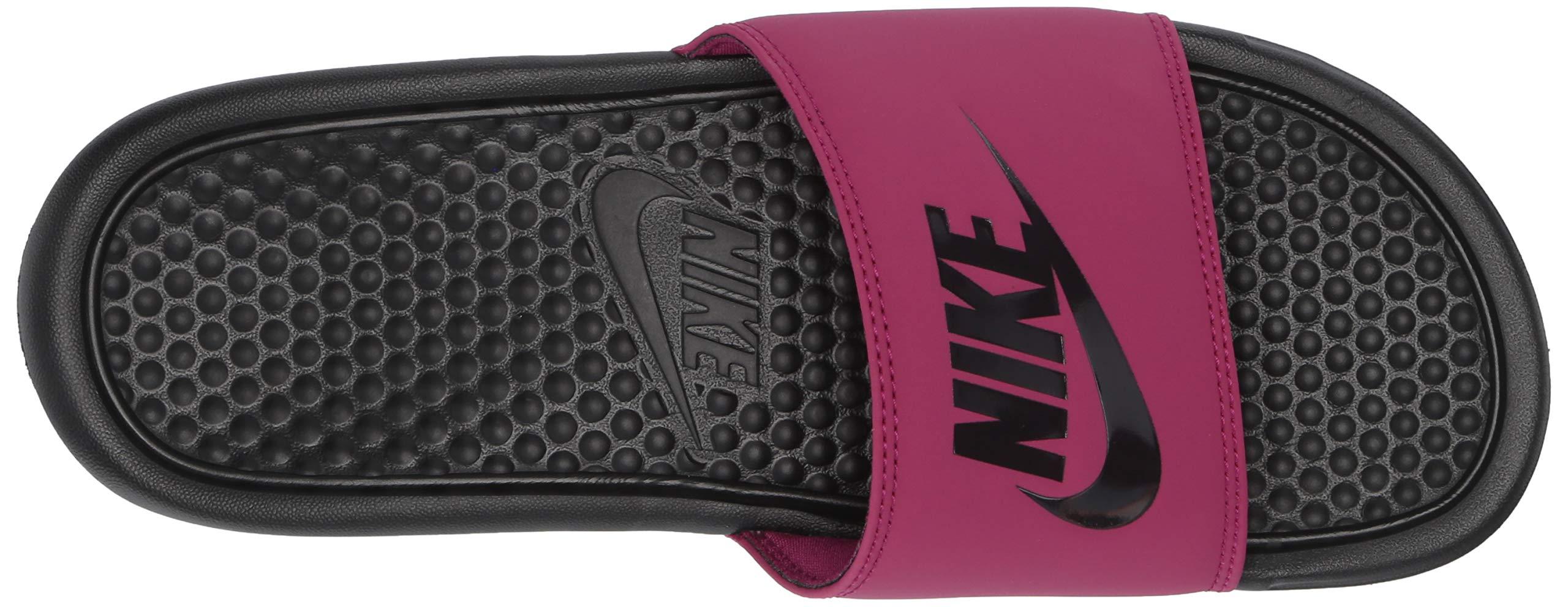 Nike Women's Benassi Just Do It Sandal, True Berry/Burgundy ash, 7 Regular US by Nike (Image #7)