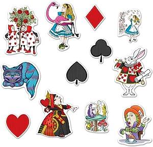"Beistle Alice in Wonderland Cutouts Multicolored 6""-12"""
