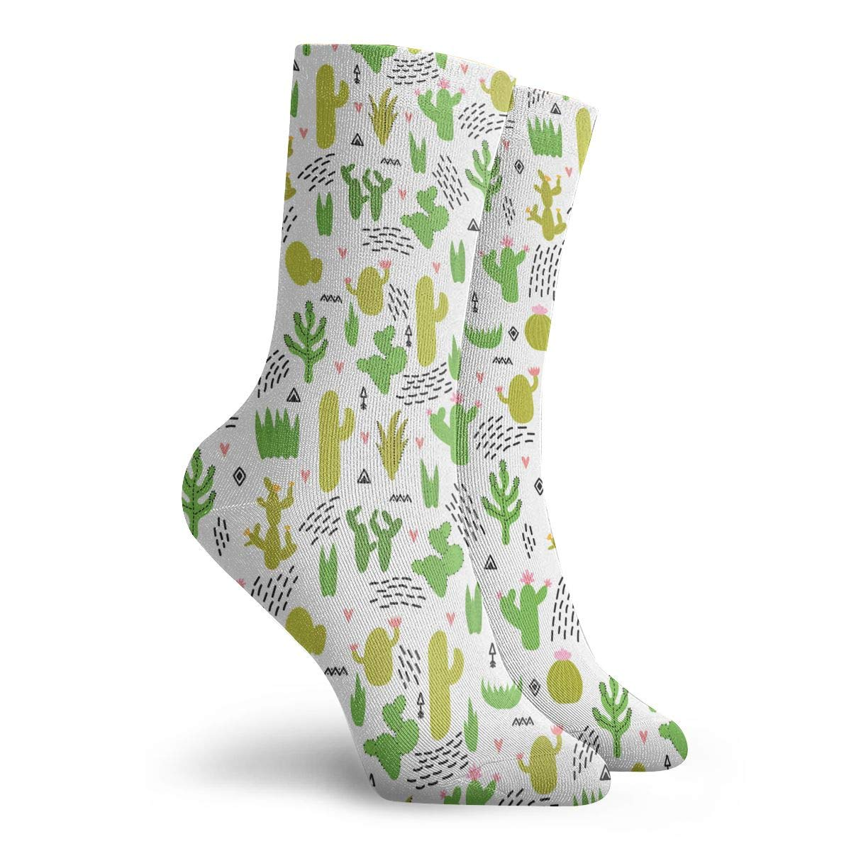 Unisex Cute Cacti And Succulents Athletic Quarter Ankle Print Breathable Hiking Running Socks