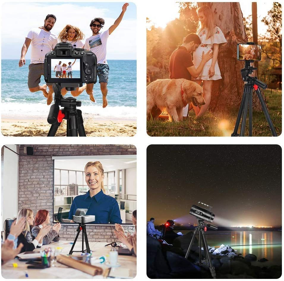 ZXASDC Camera Tripod Phone Tripod Portable Aluminum Tripod with Height Adjustable Maximum Load 4kg 1//4 Camera Interface Compatible with Most Devices