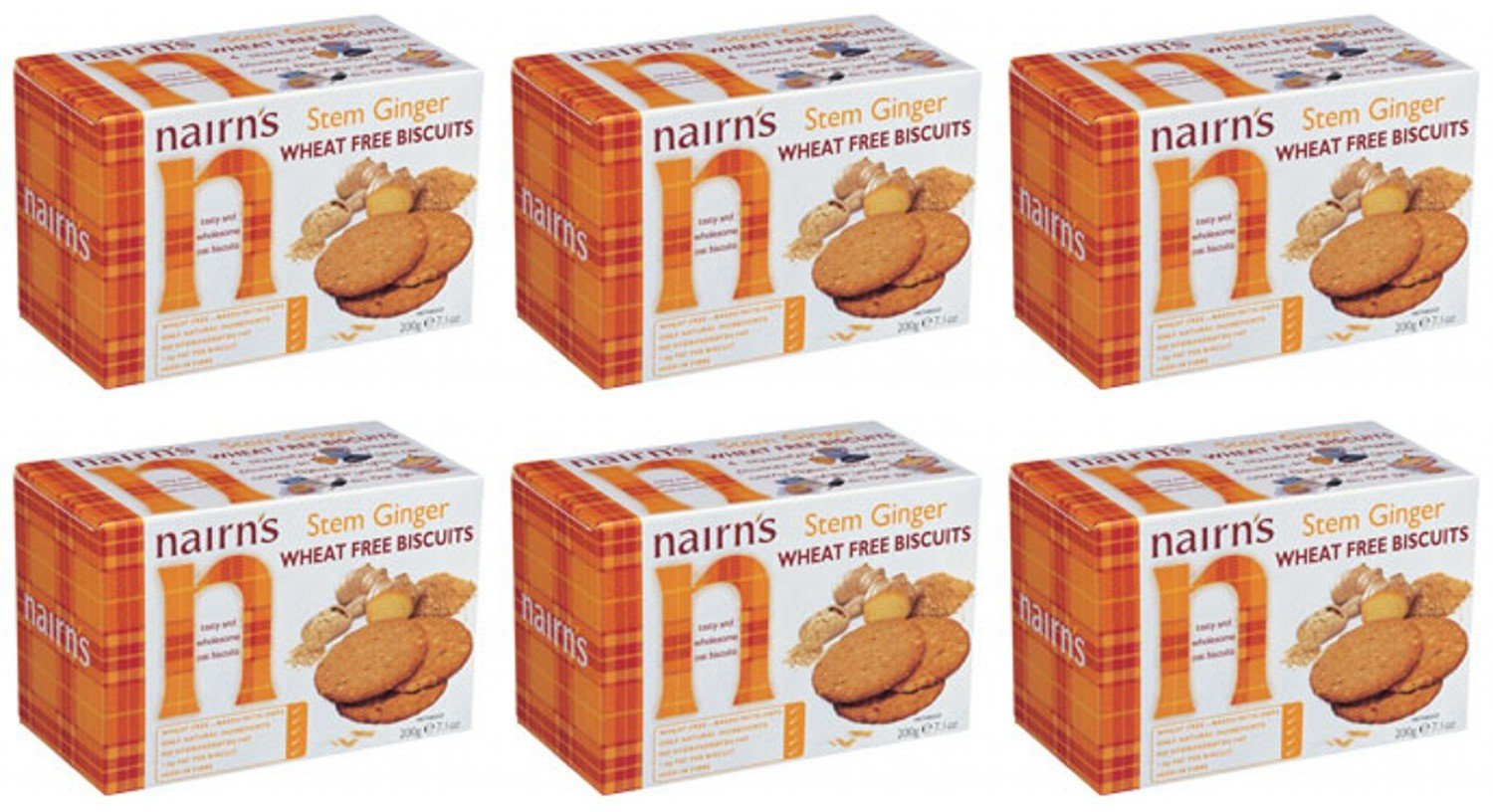 (2 Pack) - Nairns - Stem Ginger Wheat Free Biscuit | 200g | 2 PACK BUNDLE