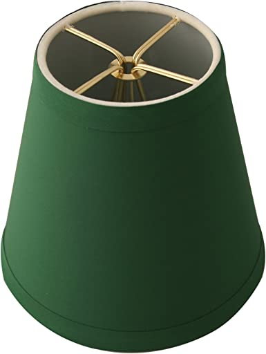 Green Set of 6 Royal Designs CS-1001-5GRN-6 Clip On Empire Chandelier Lamp Shade 3 x 5 x 4.5