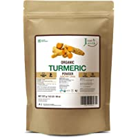 Just Jaivik 100% Usda Organic Turmeric Powder (Curcuma Longa) - Certified Organic By Onecert Asia Under Nop- 227 Gms / 1…