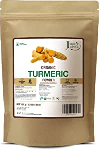 Just Jaivik 100% Usda Organic Turmeric Powder (Curcuma Longa) - Certified Organic By Onecert Asia Under Nop- 227 Gms / 1/2 Lb Pound / 08 Oz - (An Usda Organic Product)