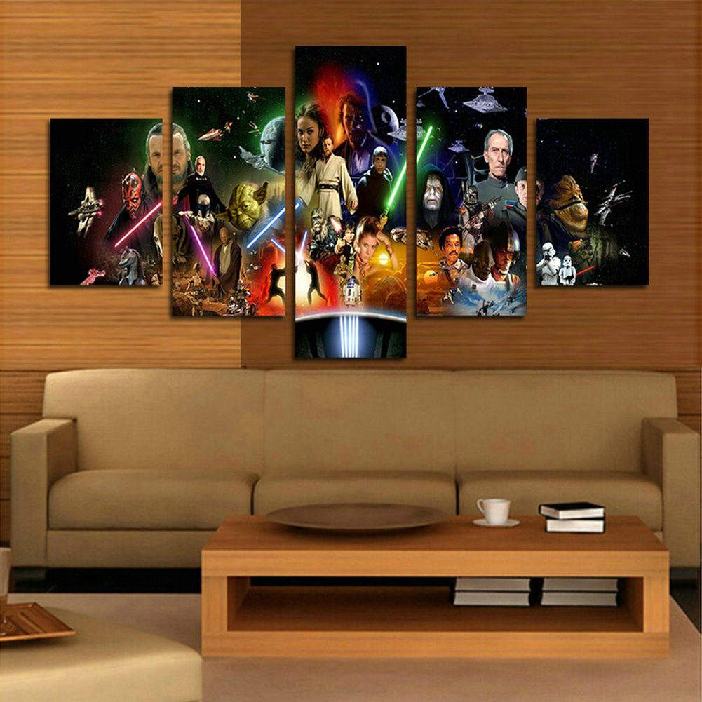 Star Wars Living Room Art: Star Wars Canvas Painting For Living Room