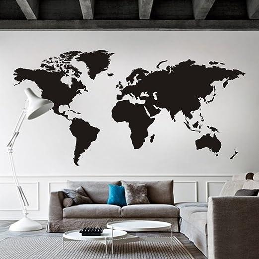 Vinilo decorativo para pared, diseño de mapa del mundo, arte ...