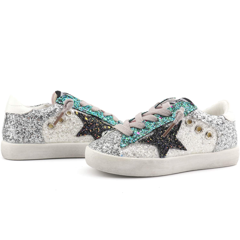 Bakkotie Toddler Baby Glittler Shoe Girl//Boy Sequin Star Flat Sneaker