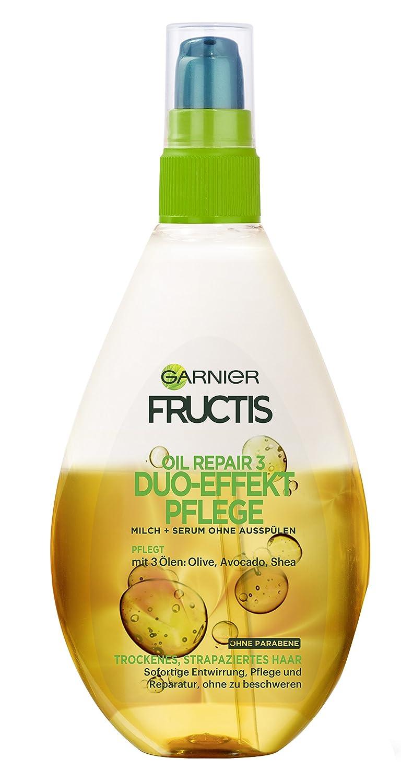 Garnier Fructis Oil Repair 3 Duo-Effekt-Pflege, repariert das Haar tiefenwirksam, mit nährenden Frucht-Ölen, 150 ml C3473021