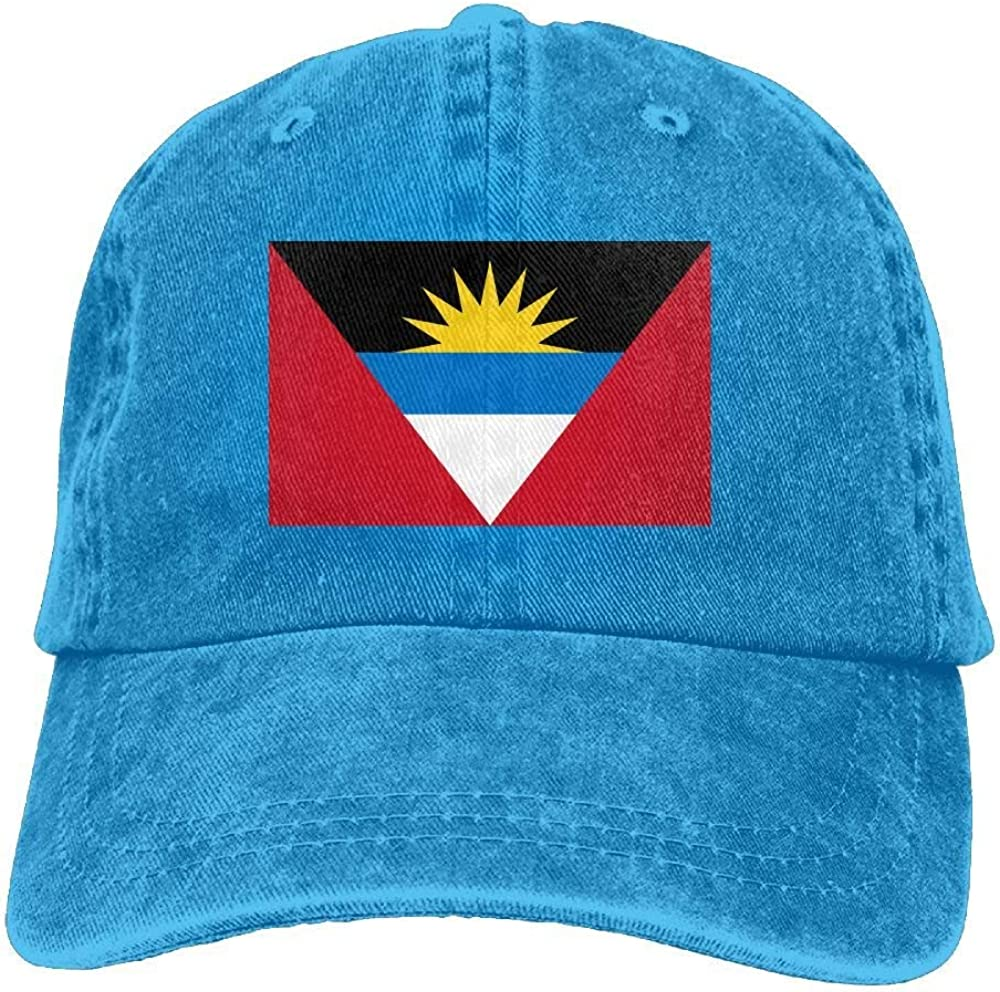 Sombrero para el Sol de la Gorra de béisbol del camión Unisex Antigua and Barbuda Flag Cowboy Hat Adjustable Baseball Cap Sunhat Fashion Leisure Cap Peaked CapUnisex Classic Baseball Cap Dad Hats