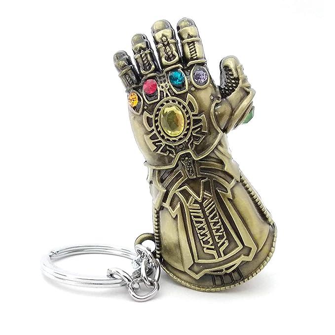 VNFLY Nidavellir Infinity Gauntlet Keychain Marvel Thanos Glove Keychain Key Ring (Bronze)