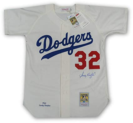 finest selection 79246 e2c26 Autographed Sandy Koufax Jersey - Home 1963 Mitchell N Ness ...