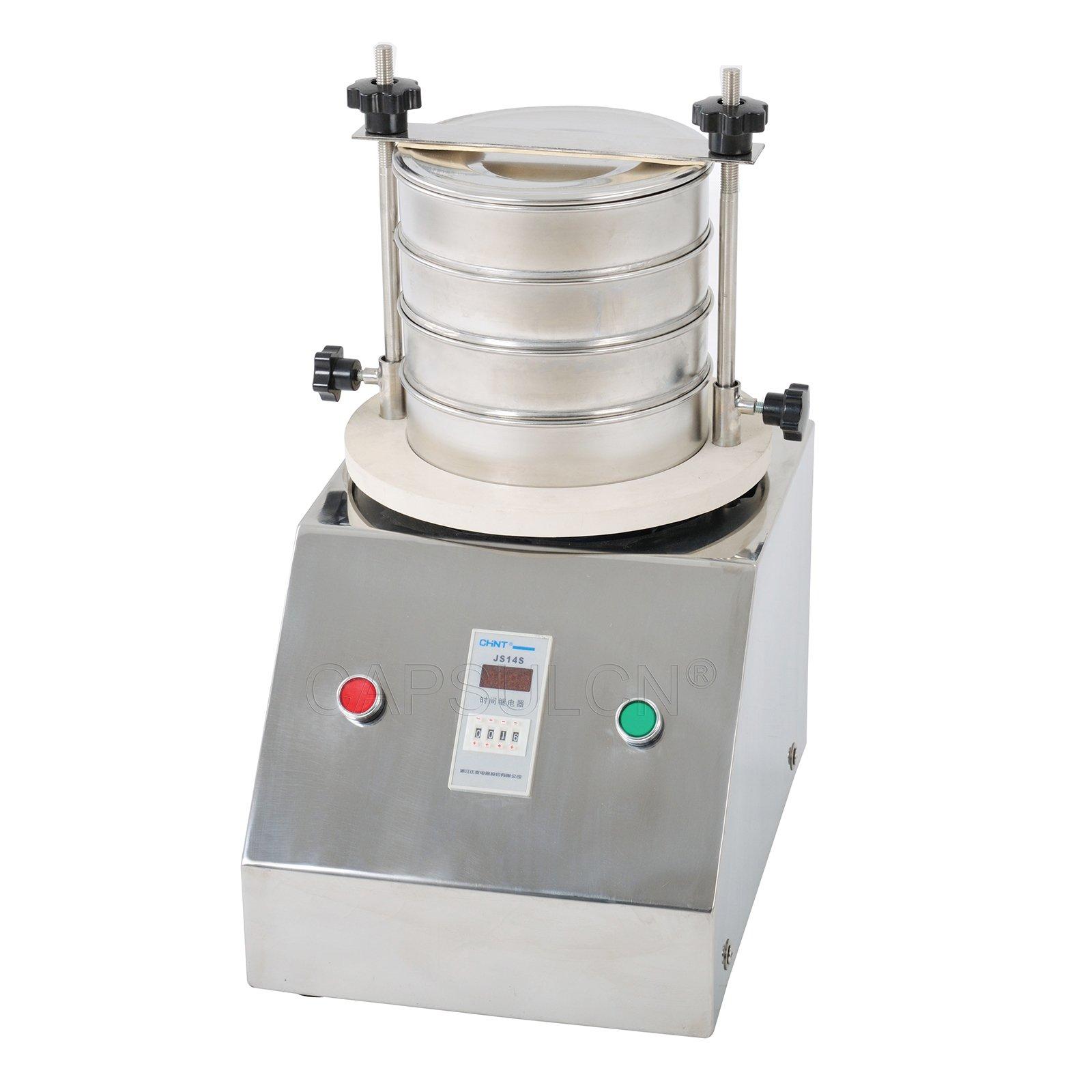 New CapsulCN. SY-300 Motorised Sieve Shaker,Powder Screening Metal Sieve Sifter Strainer with 4 Layer;220V/50Hz