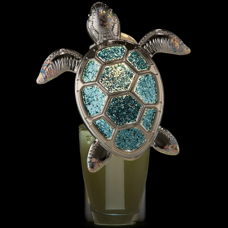 Bath and Body Works White Barn Glittery Sea Turtle Wallflower Plug In Silver and Blue by Bath & Body Works (Image #2)