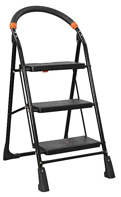 Truphe Anti Skid Foldable Ladder 3 Step Ladder for Home Use Foldable Home Ladder 3 Step Ladder for Office Folding Ladder 3 Step Ladders