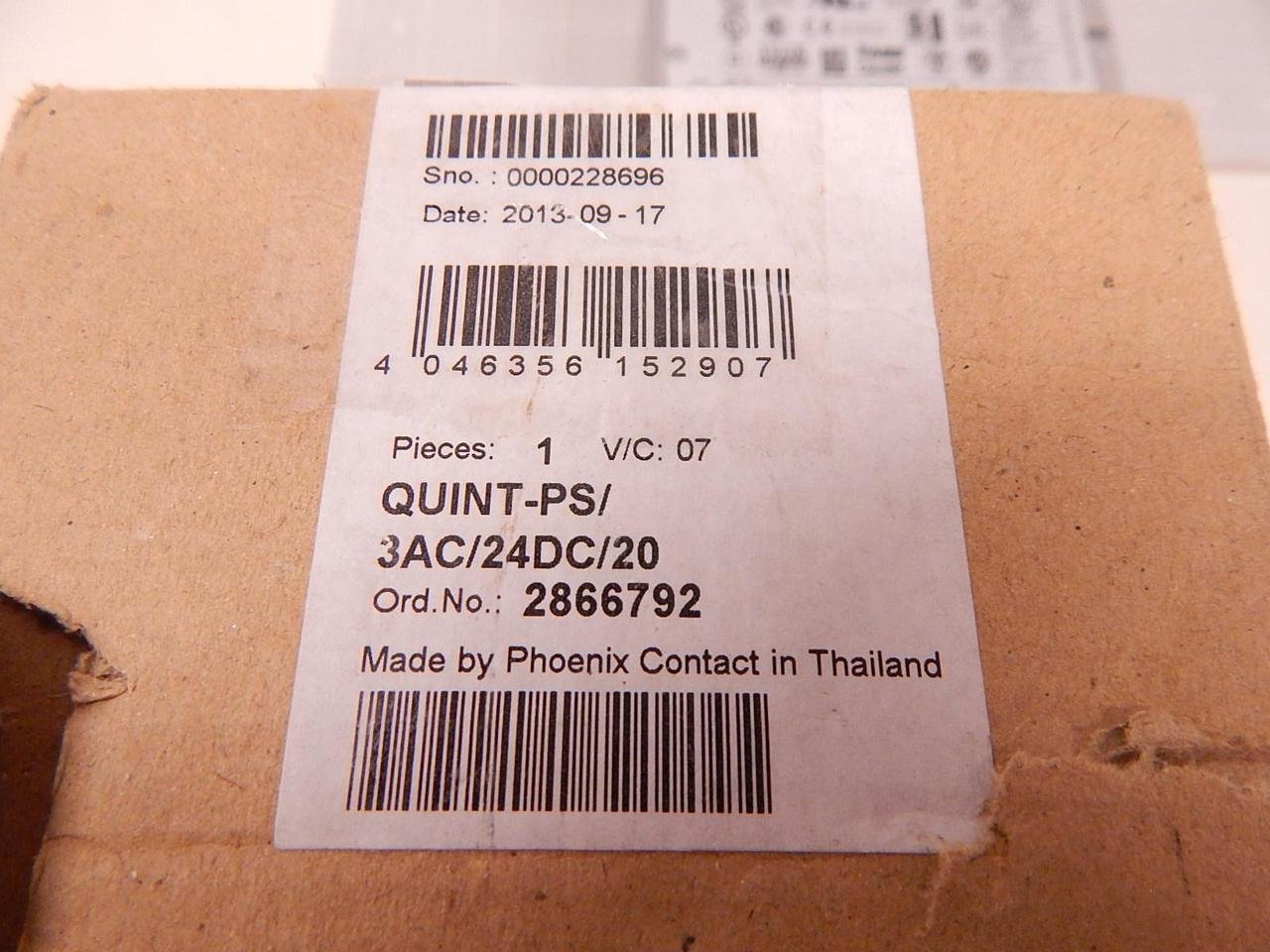 Phoenix Power Supply QUINT-PS//3AC//24DC//20 2866792 New In Box