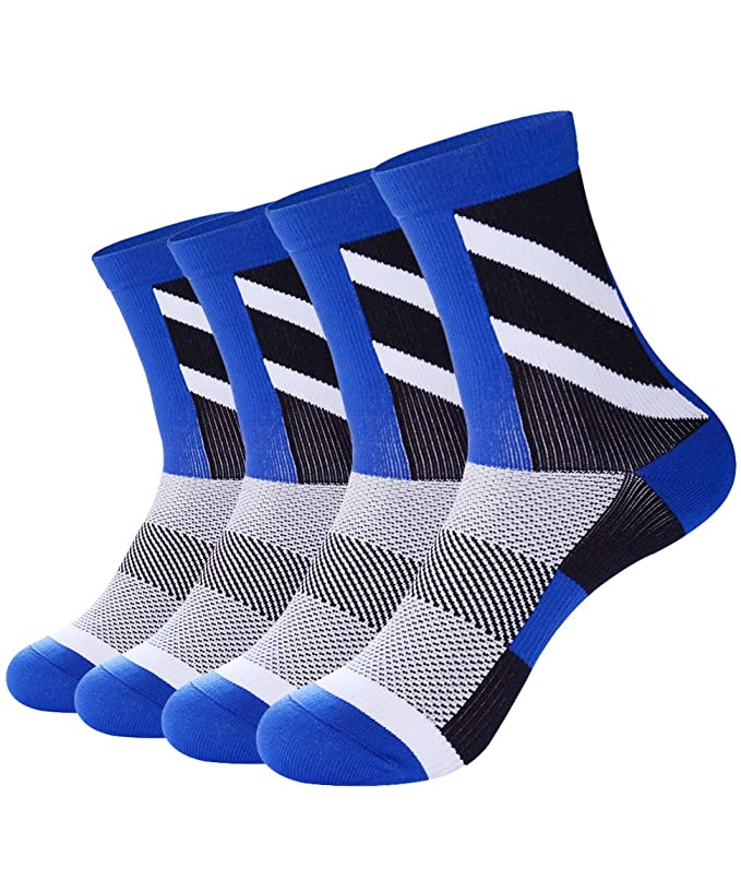 ETLieren Men's Compression Socks for Cycling,Hiking,Football,Running,Multi 1/3/4/5 Pairs