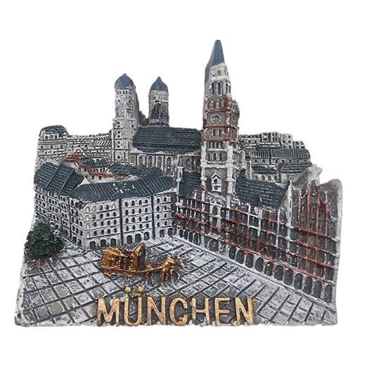 Weekino Souvenir Múnich Marienplatz Alemania Imán de Nevera de ...
