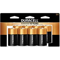 Duracell CopperTop D Batteries | Long Lasting Alkaline D Battery Pack | 8 Count