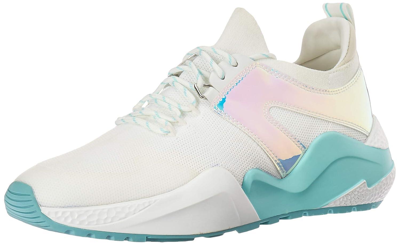 White Aqua Kenneth Cole New York Womens Maddox Jogger Knit Sneaker Sneaker