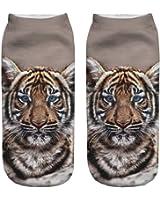 3D Print Socks Tiger Fashion Animal Socks 100% Clear Printing Casual Cute