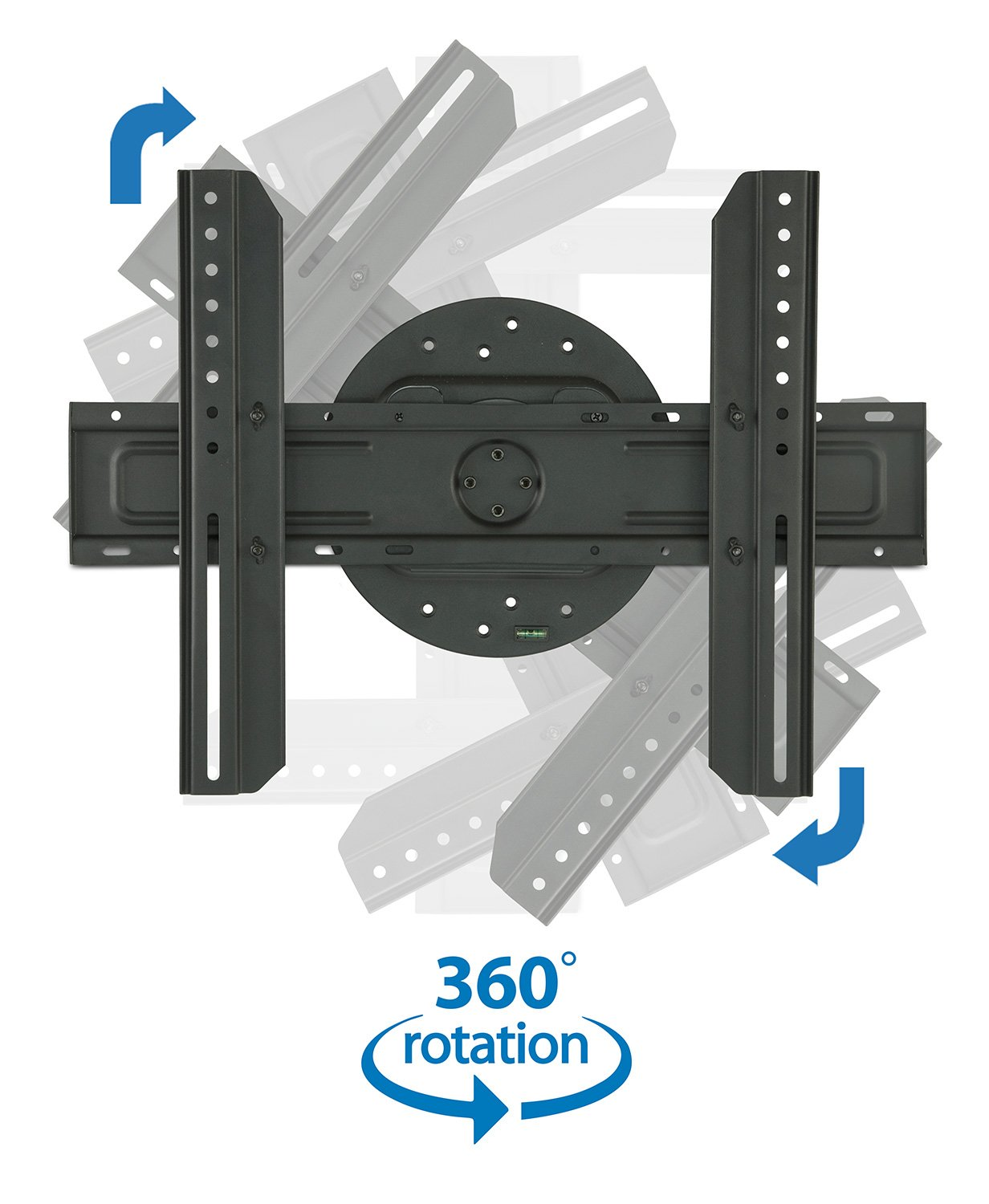 """Mount-It! TV Wall Mount Landscape to Portrait Rotation, Fixed Mounting Bracket, Low-Profile for Samsung, Sony, Toshiba, Sharp, LG, Element, Westinghouse, TCL 32 to 60 Inch (some 70"""") TVs, 110 lbs"""