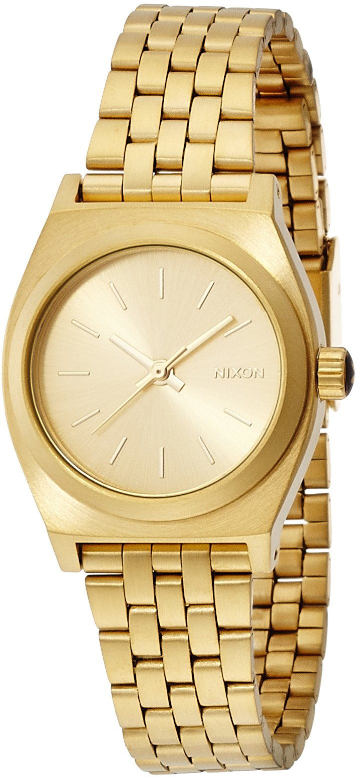 Nixon Small Time Teller Watch All Gold