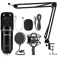 ZINGYOU Micrófono de condensador Kit BM-800 para Radiodifusión y Grabación Estudio El micrófono cardioide para…