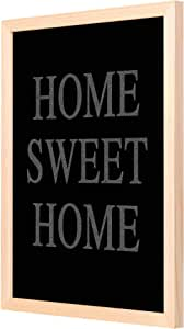لوحة جدارية ديكور الحايط مع اطار خشبي من خشب البان الحقيقي جاهزة للتثبيت 33x43 سم   بتصميم متعدد الألوان - بواسطة لوحة