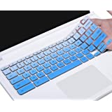 "Keyboard Cover Compatible with 2019/2018 Lenovo Chromebook C330 11.6 / Flex 11 Chromebook/Chromebook N20 N21 N22 N23 100e 300e 500e 11.6""/Chromebook N42 N42-20 14 inch Chromebook, Ombre Blue"