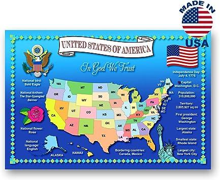 Amazon.com: Estados Unidos Mapa postal Conjunto de 20 ...