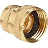 """Anderson Metals Brass Garden Hose Fitting, Swivel, 3/4"""" Female Hose ID x 1/2"""" Female Pipe"""