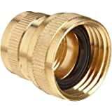 """Anderson Metals Brass Garden Hose Fitting, Swivel, 3/4"""" Female Hose ID x 3/4"""" Female Pipe"""