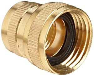 "Anderson Metals Brass Garden Hose Fitting, Swivel, 3/4"" Female Hose ID x 3/4"" Female Pipe"