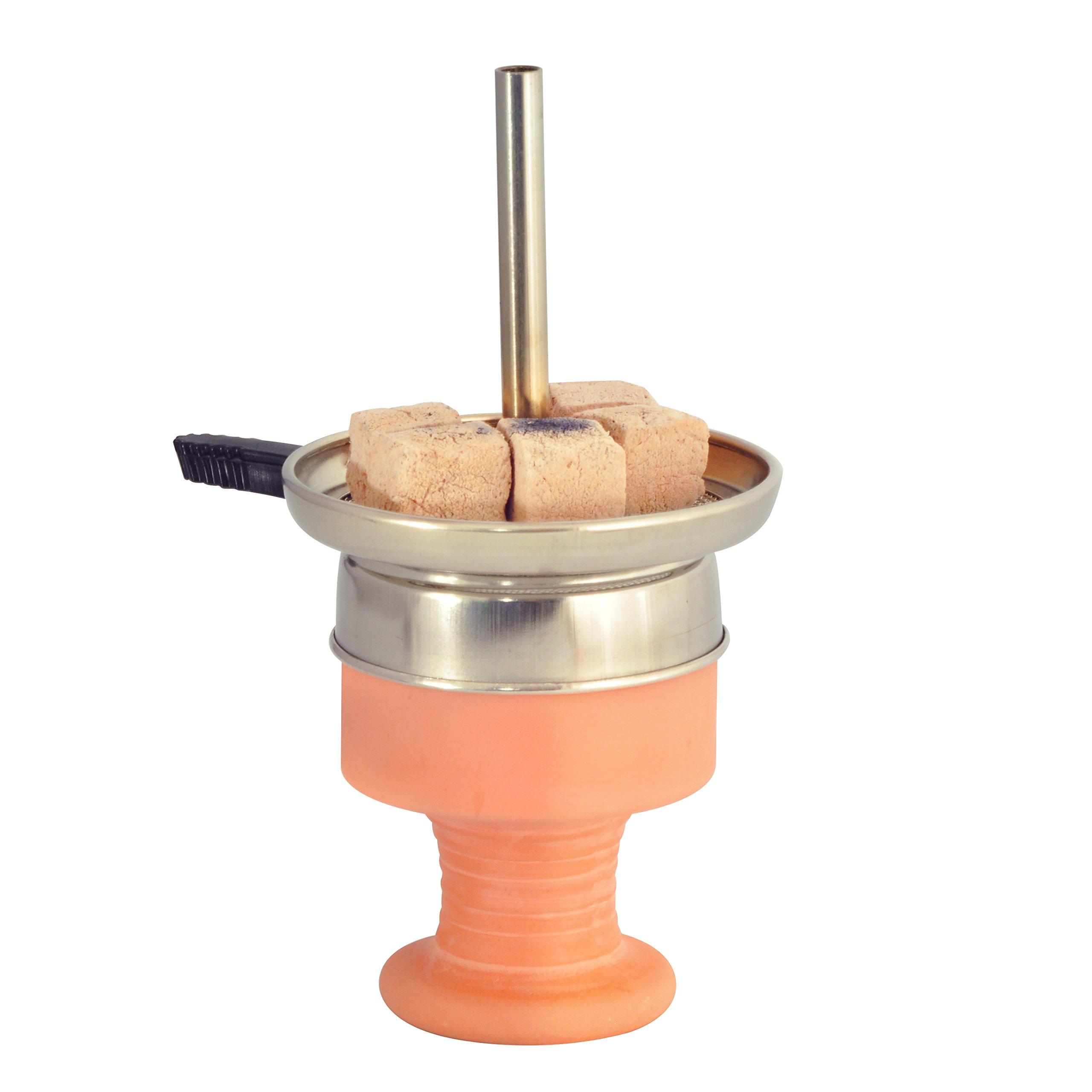Kitosun Hookah Bowl Set Ceramic Hookah Bowl with 12 Holes Large Charcoal Holder Shisha Heat Management Bundle