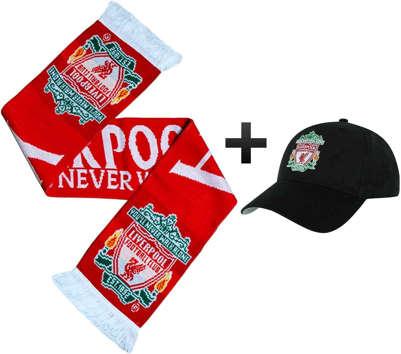 L.F.C - Gorra y Bufanda Oficial del Liverpool F.C.: Amazon.es ...