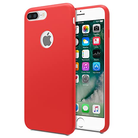 Apple Silicone Back Cover Case for iPhone 7 Plus - Sea: Amazon.co