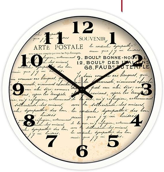 reloj de pared soporte reloj cristal SistemaContinental creativo retro pared del reloj/ tablas de pared salón moda-C 12pulgada: Amazon.es: Hogar