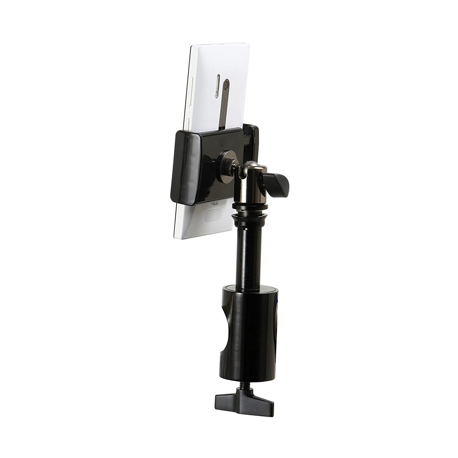 On-Stage Stands TCM1908 Grip-On Universal Device Holder with U-Mount Bullnose Clamp