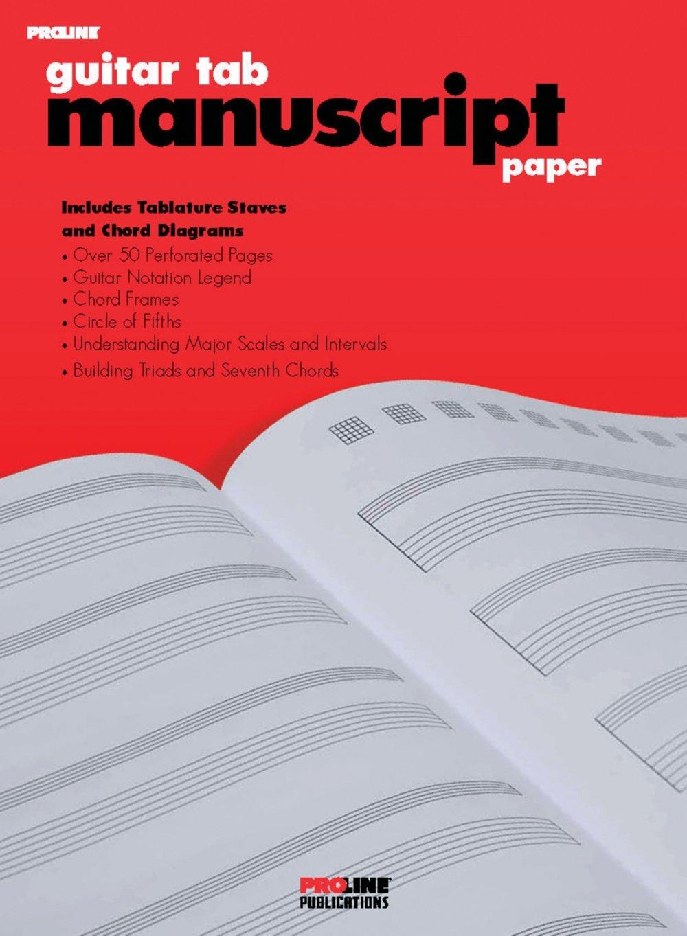 Manuscript Paper Guitar Tablature Manuscript Paper Standard
