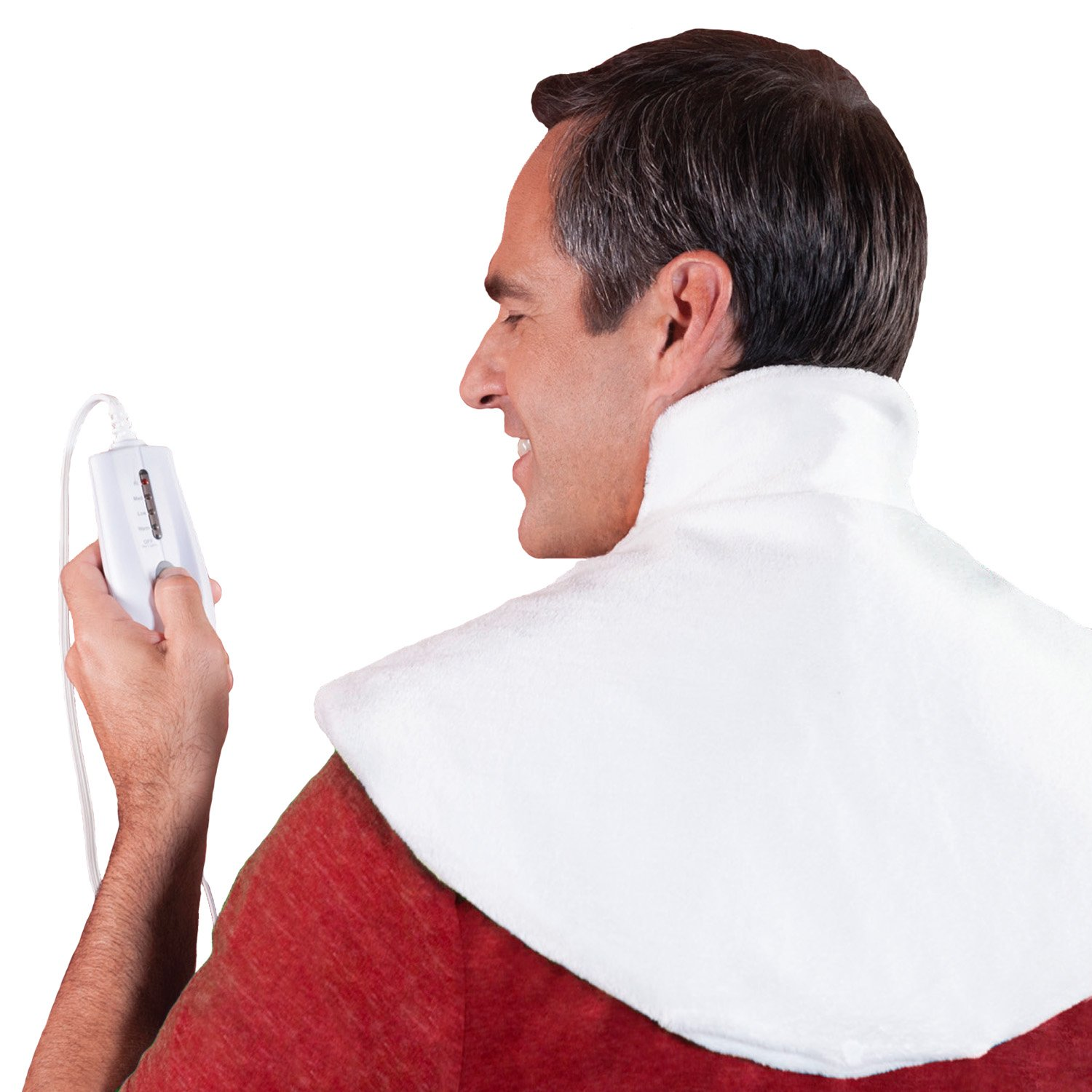 Dr. Bob's - Neck Wrap Heating Pad - Doctor Designed for Therapeutic Heat Relief and Arthritis.. U.L. Approved, Maximum Heat, 2 hr. auto shutoff, moist/ dry heat, luxurious machine washable cover