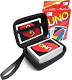FitSand (TM) Travel Zipper Carry EVA Hard Case for UNO Card Game - Black Box, Blacker Box, Best Protection for UNO Cards