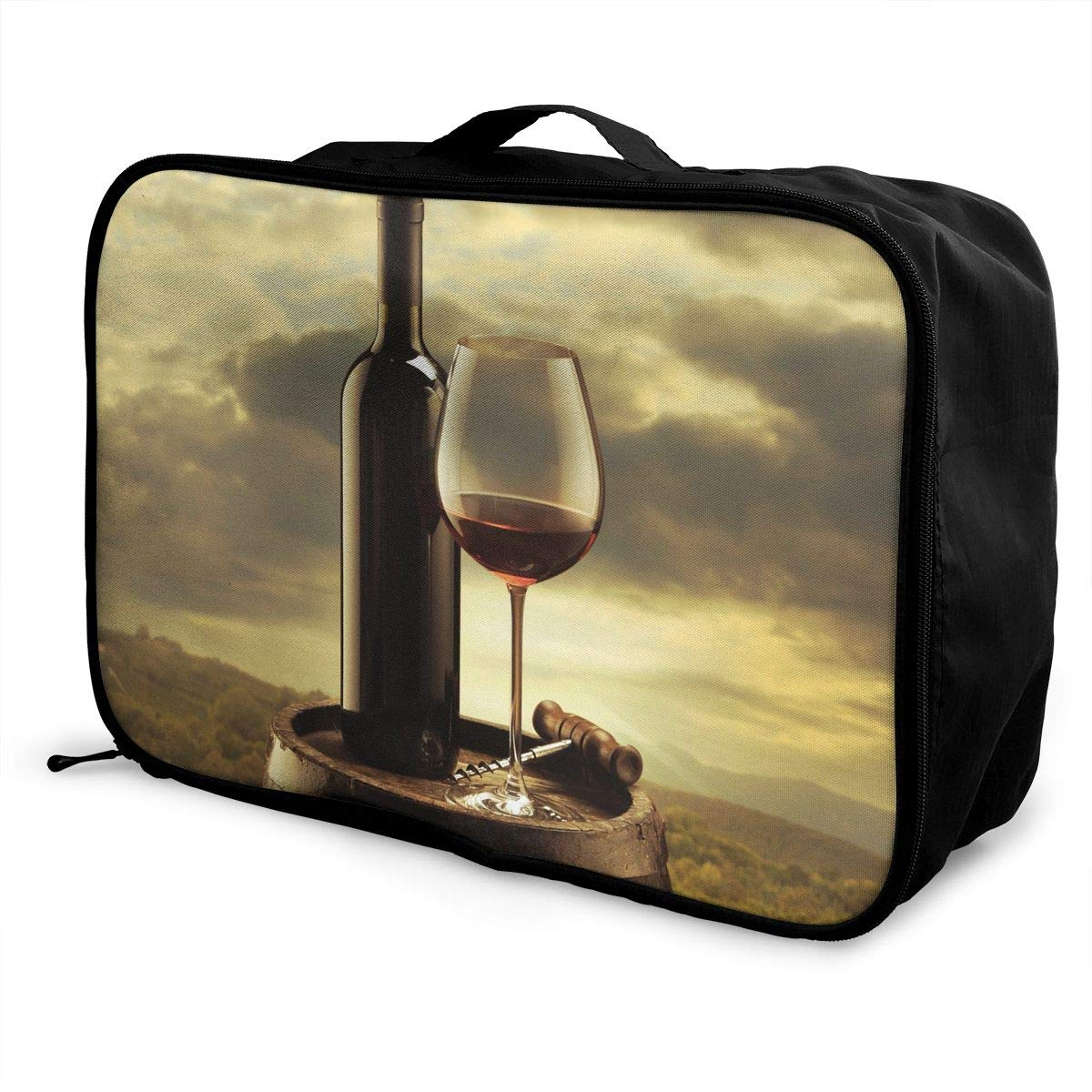 Travel Luggage Duffle Bag Lightweight Portable Handbag Wine Bottle Large Capacity Waterproof Foldable Storage Tote