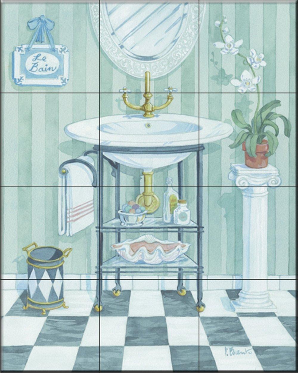 Fliesenwandbild - Waschbecken - von Paul Brent - Küche Aufkantung ...