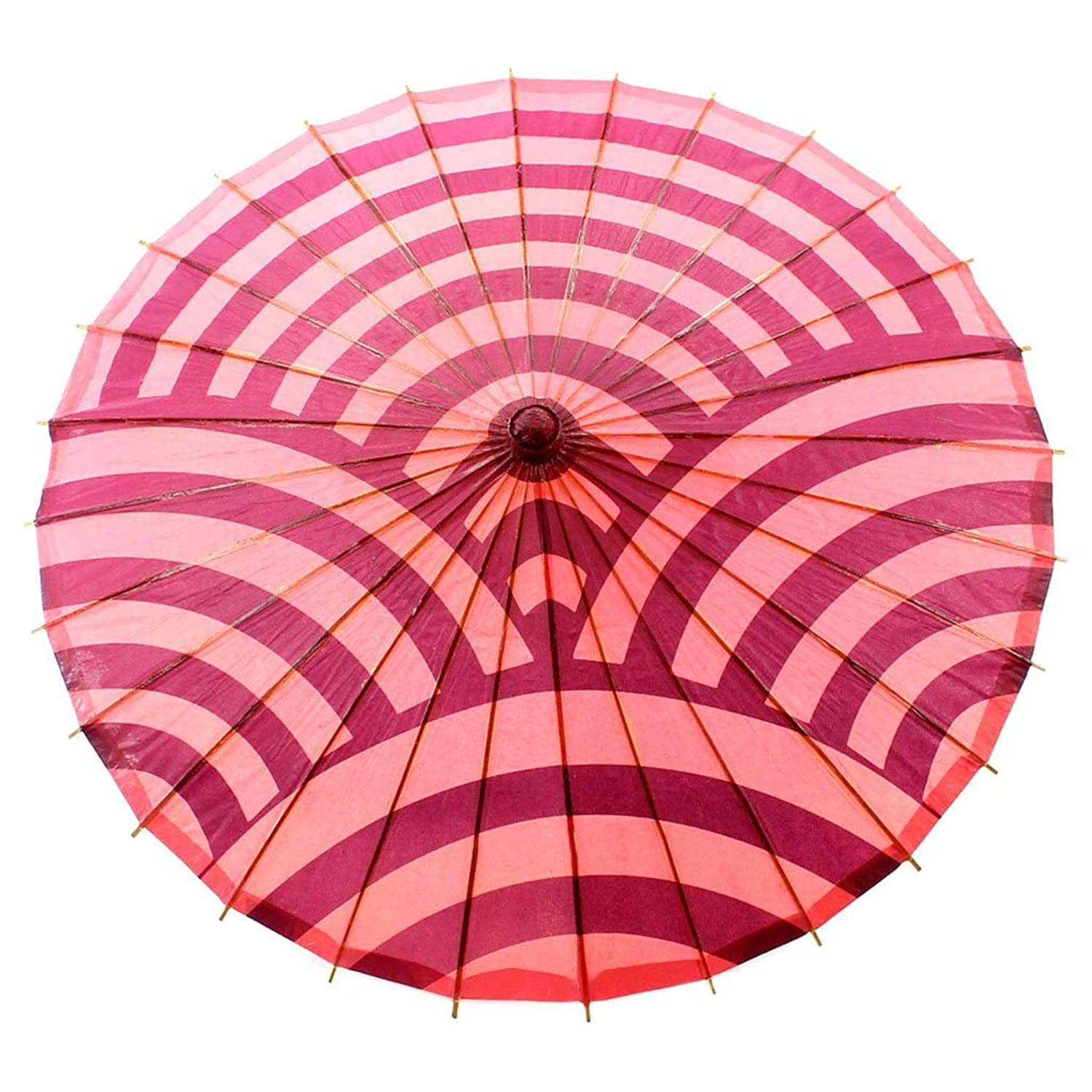 Vintage Style Parasols and Umbrellas Sunrise Curves Paper Parasol $15.99 AT vintagedancer.com