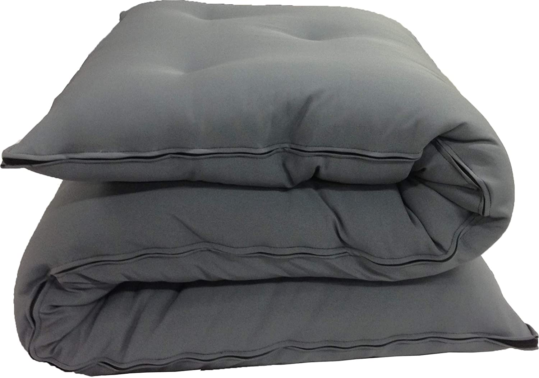D&D Futon Furniture Cotton/Foam/Polyester Queen Size Traditional Japanese Floor Rolling Futon Mattresses 3x60x80, Gray