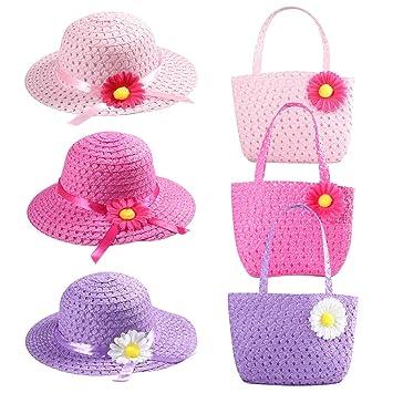 Toyvian Sombrero y Monedero de Paja para niños, Sombreros y ...