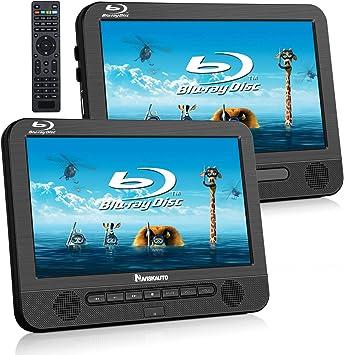 NAVISKAUTO - Reproductor de DVD portátil para Coche (10,1