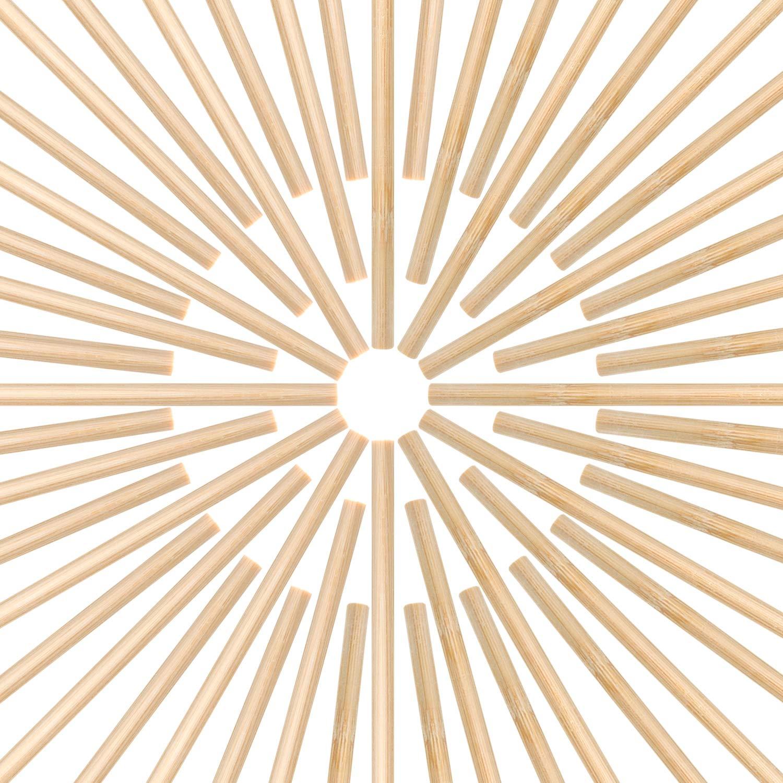 12 Pulgadas de Largo Palitos de Bambú de Manualidades para Proyectos de Artesanía, 50 Piezas (1/4 Pulgada de Diámetro) Hestya