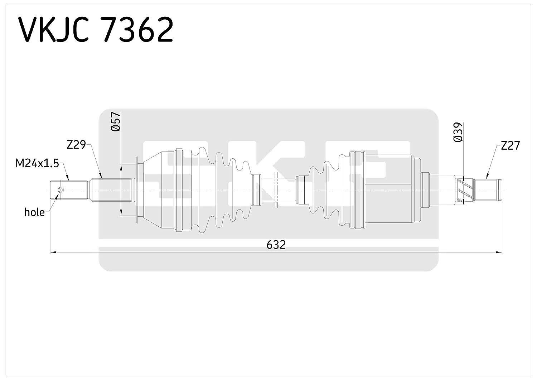 SKF VKJC 7362 Kit de transmisi/ón